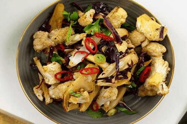Salade Asiatique chou-fleur et fenouil
