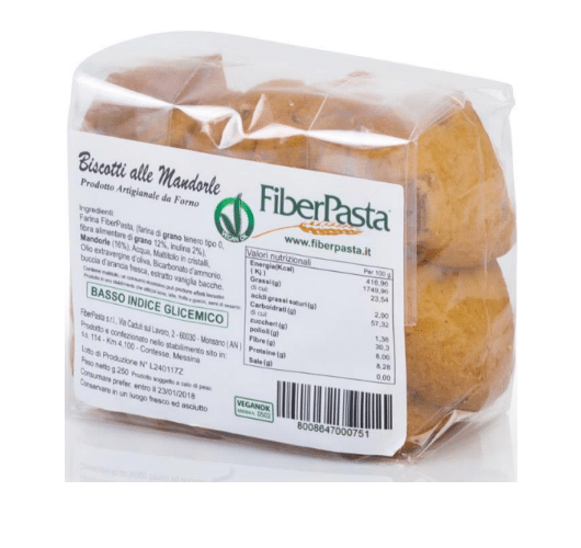 Biscuits aux amandes Fiberpasta - ig 42 vendus sur la boutique Al'Origin