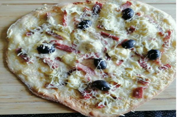 La Pizza Jambon De Parme Artichaut - Farine Fiberpasta IG 29 - Vendu chez al origin.fr