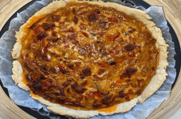 La Tarte Poivrons /Chorizo - Farine Fiberpata IG 29 - Vendu chez al-origin.fr