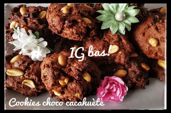 Cookies Chocolat Cacahuètes - farine Fiberpasta IG 29 - Vendu chez al-origin.fr