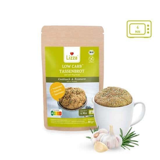 Mug pain à l'ail et au romarin - Faible teneur en glucides. Vendu par Al'Origin.fr