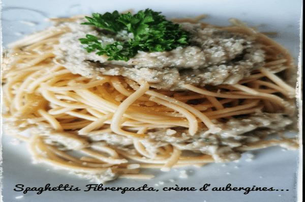 Les Spaghettis Sauce Aubergine - Spaghettis Fiberpasta IG 23 - Vendu chez al-origin.fr
